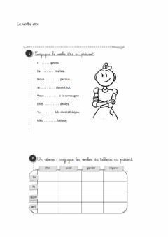 Interactive worksheet Le verbe etre