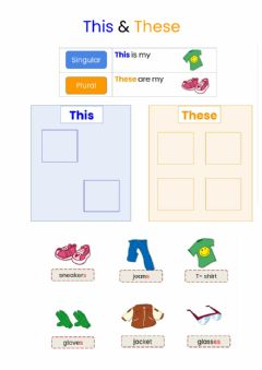 Interactive worksheet This & these