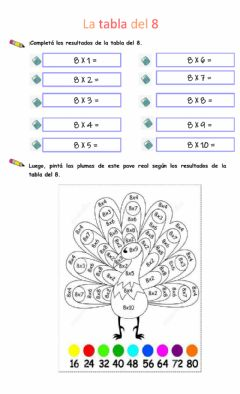Interactive worksheet La tabla del 8