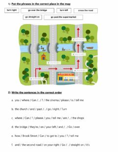 Interactive worksheet Asking and Giving Directions