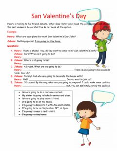 Interactive worksheet San valentine's day -  Going to