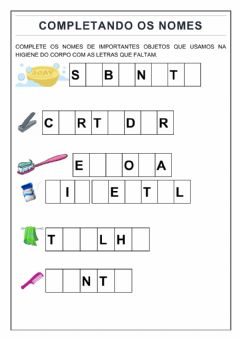 Interactive worksheet Complete os nomes