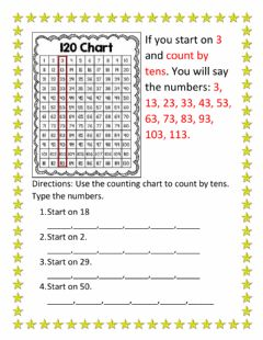 Interactive worksheet Counting by 10