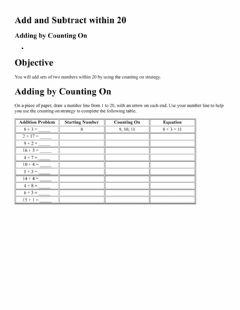Interactive worksheet Counting on Show it