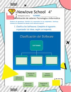 Interactive worksheet Tipos de software