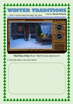 Interactive worksheet Winter Traditions