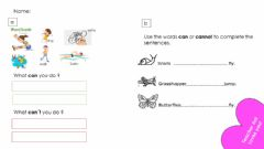 Interactive worksheet Can- cannot