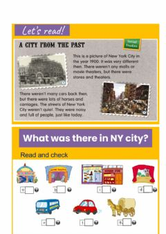 Ficha interactiva A city from the past (was- were)
