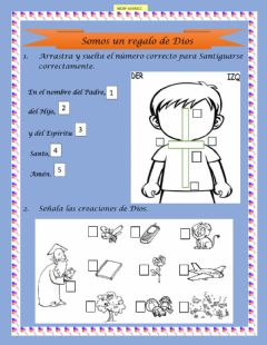 Interactive worksheet Somos regalo de Dios