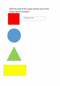 Interactive worksheet Shapes and Color