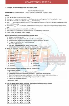 Interactive worksheet Competency Test 3.4