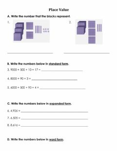 Interactive worksheet Math Place Value Quiz