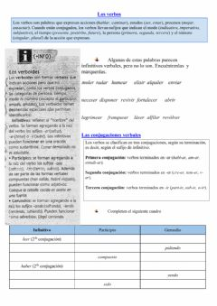 Interactive worksheet Verbos