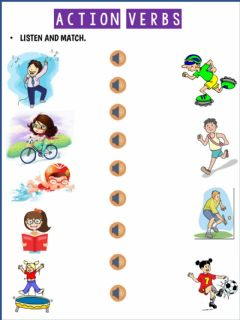 Ficha interactiva Action verbs