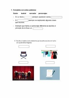 Interactive worksheet Texto teatral