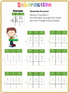 Interactive worksheet Subtraction with regrouping