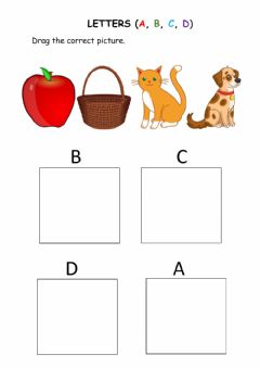 Interactive worksheet Abcd letters for kids