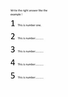 Interactive worksheet Write the number