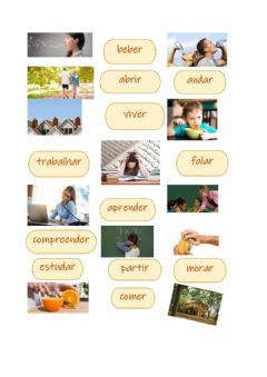 Interactive worksheet Verbos regulares vocabulario
