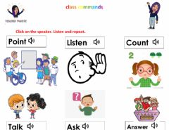 Interactive worksheet Class Commands Everybody Up L1 U0