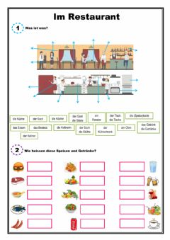 Interactive worksheet Im Restaurant