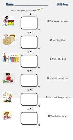Interactive worksheet Family and housework