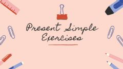Interactive worksheet PRESENT SIMPLE - EXERCISES