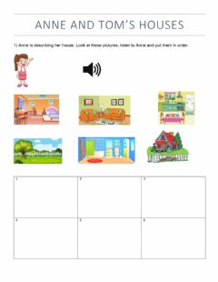 Interactive worksheet Anne and Tom's Houses