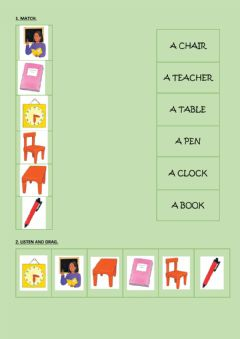 Interactive worksheet Classroom time