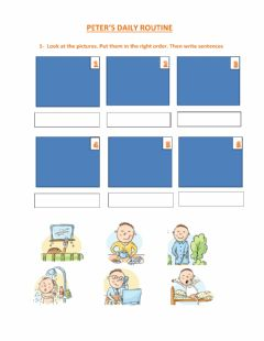 Interactive worksheet Peter's daily routine