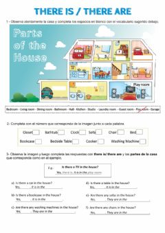 Ficha interactiva There is-are and Prepositions