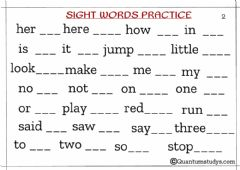 Interactive worksheet Sight