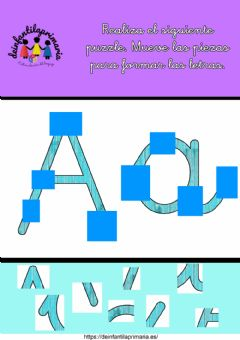 Interactive worksheet Puzzle letra a