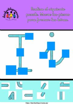 Interactive worksheet Puzzle letra i