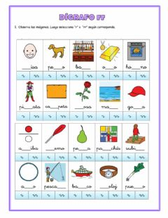 Interactive worksheet Dígrafo rr