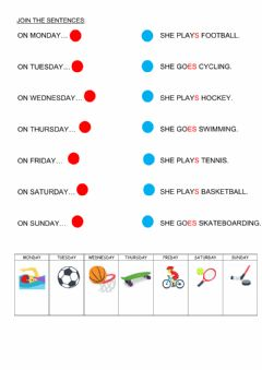 Interactive worksheet Sports - simple present