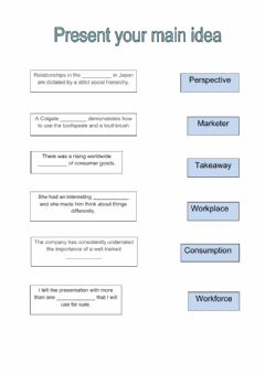 Interactive worksheet Present your main idea