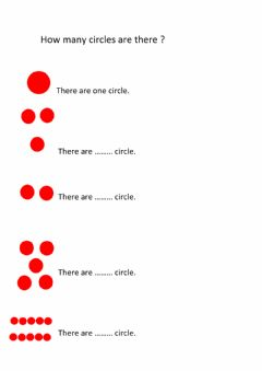 Interactive worksheet How many circle are there?