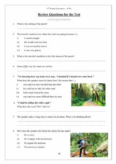 Interactive worksheet The Road Not Taken, for the Test. Dina Shterengas. 10