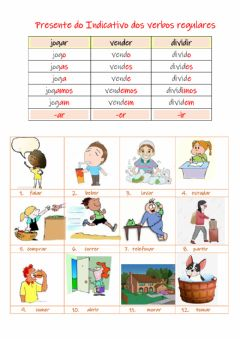 Interactive worksheet Verbos regulares