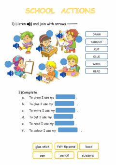 Interactive worksheet School activities