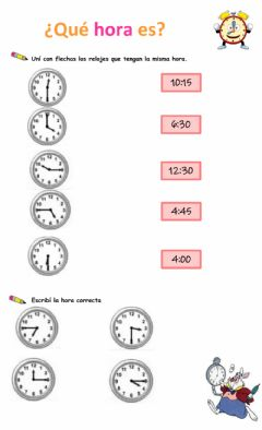 Interactive worksheet La hora- 1
