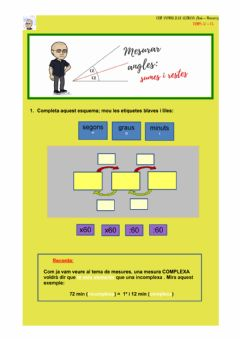 Interactive worksheet El temps: els angles, sumes i restes