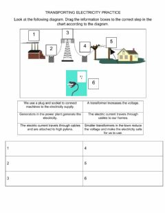 Interactive worksheet Transporting Electricity to our Homes