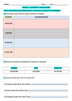 Interactive worksheet Ficha 2 mat 5º epo t-1