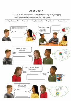 Interactive worksheet Do or Does?
