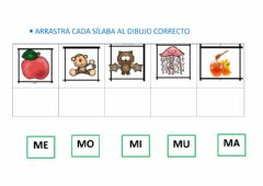 Interactive worksheet Silaba inicial