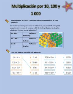 Interactive worksheet Multiplicaciones por 10, 100 y 1 000
