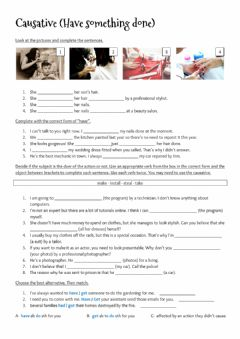 Interactive worksheet Causative (Have something done)