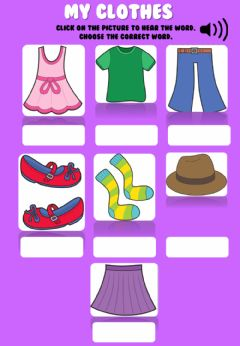 Interactive worksheet Clothes 1